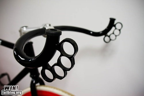 bicycle bike brass knuckles design handlebar - 5943999232
