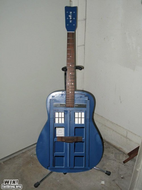DIY,doctor who,g rated,guitar,Hall of Fame,Music,nerdgasm,tardis,win