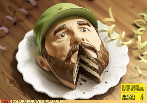 Ad Campaign amnesty international cake castro dictator - 5944073472