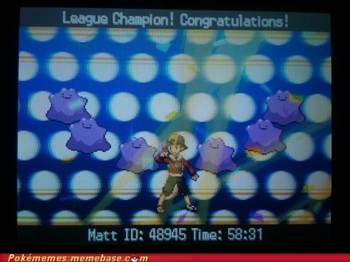 ditto,elite 4,gameplay,league champion,transform