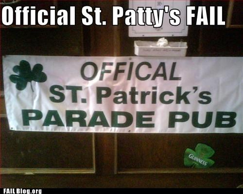 holiday,signs,St Patrick's Day,typo