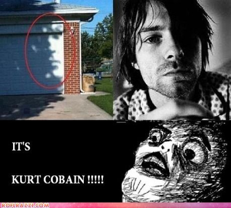 celeb funny kurt cobain meme Music OMG face - 5944139520