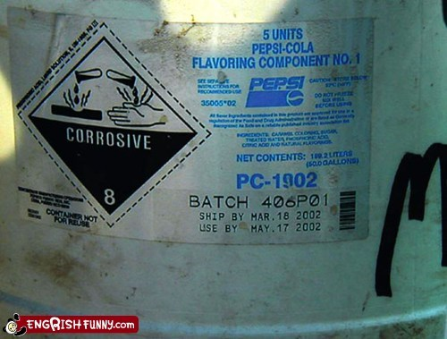 acidic canister corrosive flavoring pepsi - 5944163328