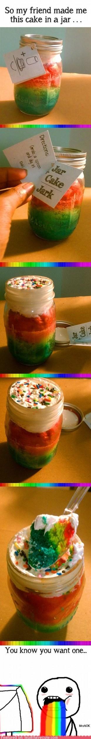 cake epicute gift jar jark rainbow - 5944406016