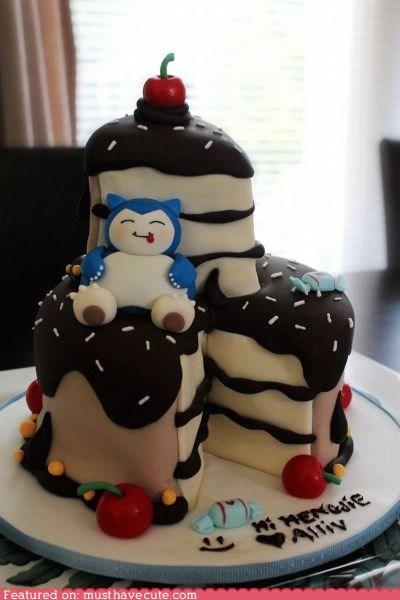 best of the week cake epicute fondant Pokémon snorlax - 5944407552