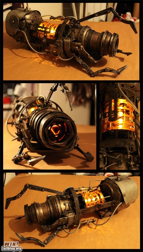 DIY fan made g rated Hall of Fame nerdgasm Portal Steampunk win - 5944455680