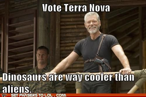 cancelled show,dinosaurs,Stephen Lang,terra nova,vote