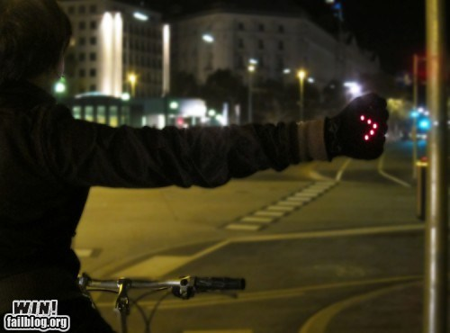 bicycling design gloves turn signal - 5944483072