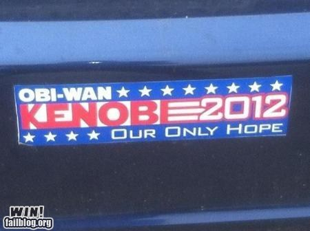 bumper sticker,g rated,Hall of Fame,nerdgasm,politics,star wars,win