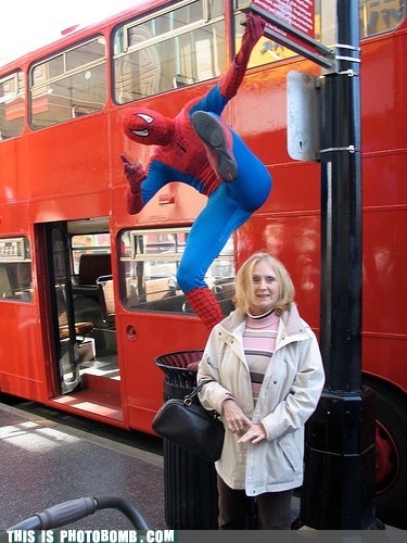public spider Spider-Man Street Bomb streetbomb swing - 5944603392