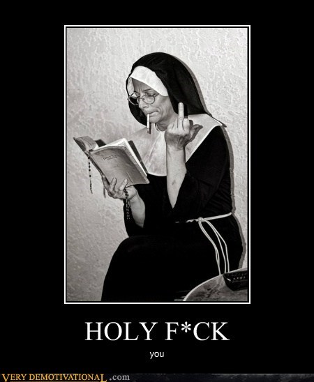 bible hilarious nun swearing wtf - 5944760832
