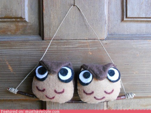 craft door felt handmade owls who - 5944876800