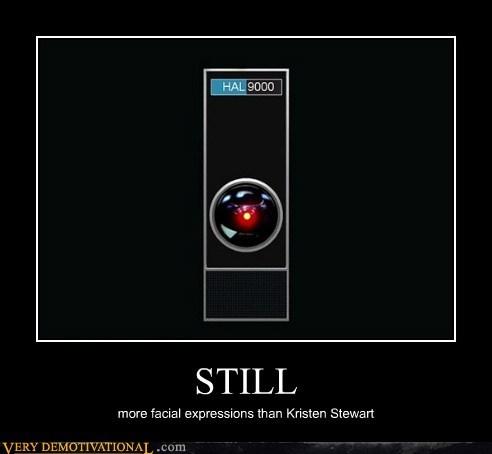 computer,facial expressions,HAL 9000,hilarious,kristen stewart