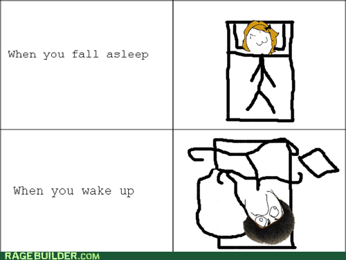 bed Rage Comics sleeping tossing and turning - 5945027072