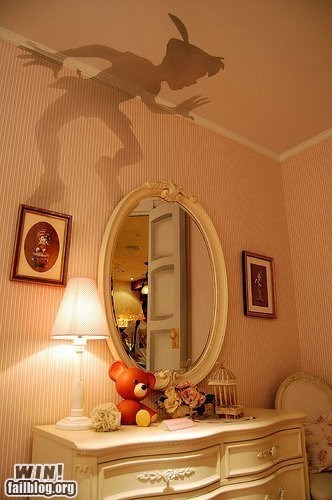 clever,disney,peter pan,photography,shadow