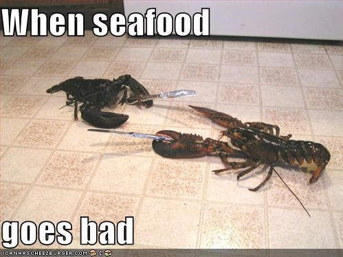 kitchen knives lobsters seafood - 594531584