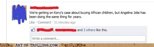 africa Angelina Jolie facebook kids Kony - 5945367296