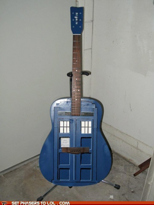 best of the week craft doctor who guitar tardis the doctor - 5945426432
