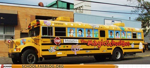 cartoons IRL pedobear awaits the magic schoolbus - 5946137856