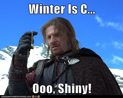 Boromir Lord of the Rings sean bean shiny the one ring Winter Is Coming - 5946185216