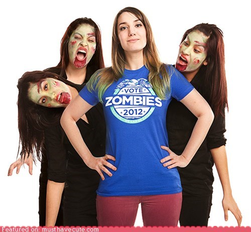 election politics shirt vote zombie - 5946364160