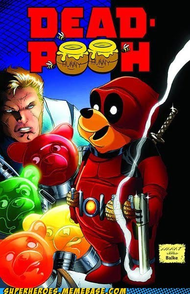 Awesome Art deadpool pooh wtf - 5946381056