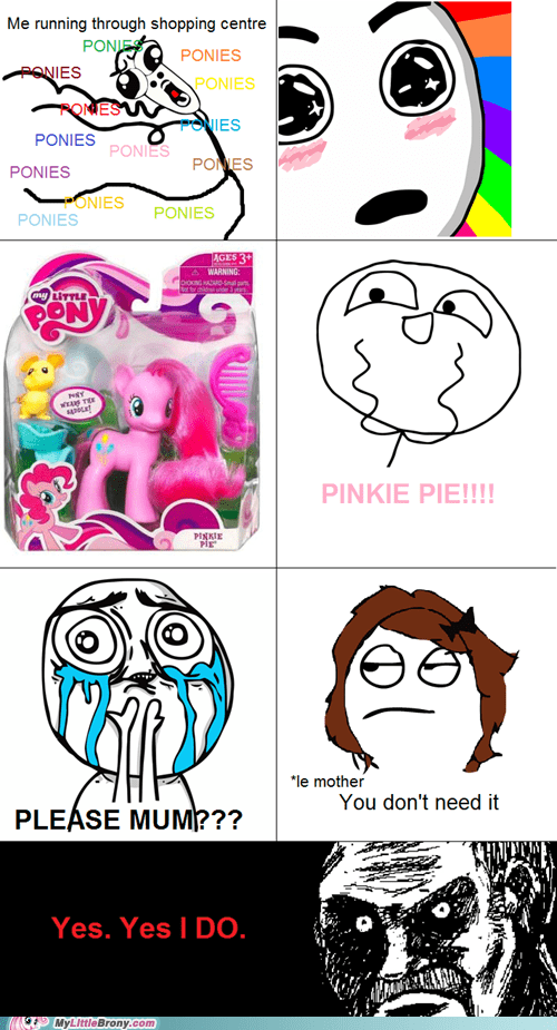 pinkie pie,ponies,rage comic,Rage Comics,shopping