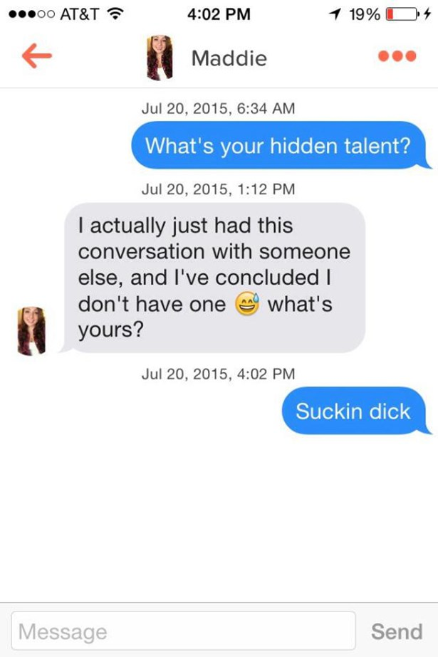 hilarious tinder troll in DM conversations