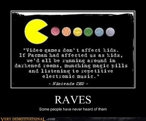 hilarious,pac man,raves,video games