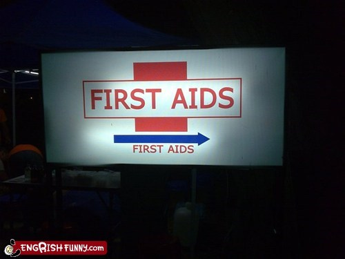 aids engrish first aid first aids sign - 5947000576