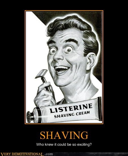 crazy exciting hilarious listerine shaving wtf - 5947077120