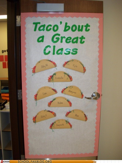 g rated great class School of FAIL so punny tacos - 5948005376