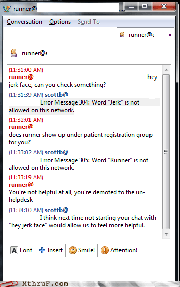 chat help chat it jerk jerk face tech support