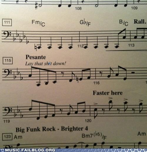 bass instructions Music FAILS music instructions score sheet music - 5948077568