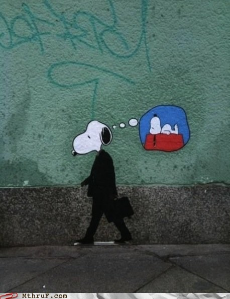 9-5 desperate graffiti snoopy wall art wish - 5948113408