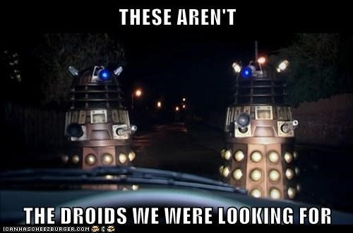 daleks,doctor who,looking for,move along,not the droids