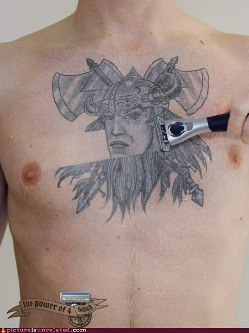razor shaving tattoo wtf - 5948190208