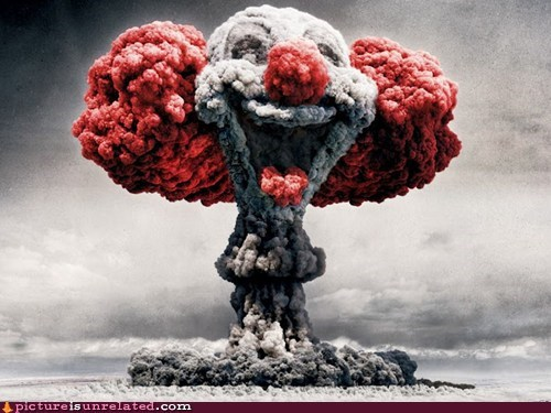 burst clown creepy explosion wtf - 5948195584