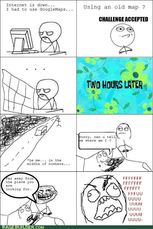 fu guy,internet,Maps,Rage Comics