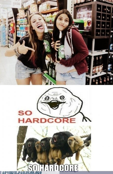 bad beer,gross,hardcore,Heineken,high schoolers,rebel,so hardcore,woo girls