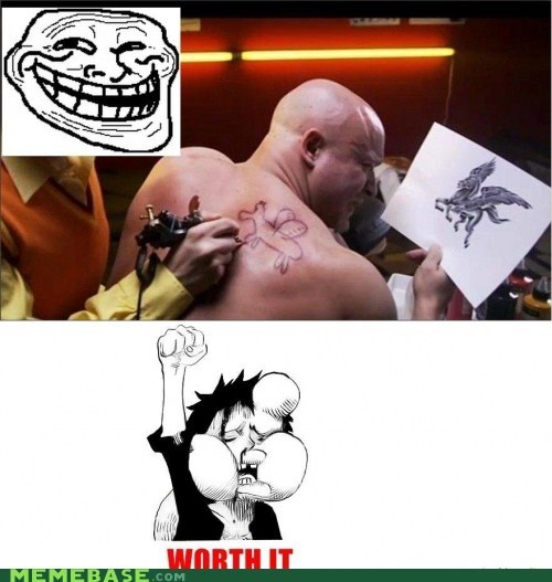 pain,pegasus,Rage Comics,tattoo,worth it