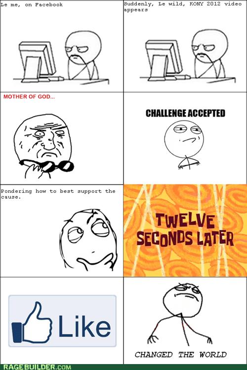 Challenge Accepted facebook Kony mother of god Rage Comics - 5948545024