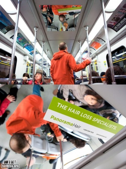 advertising balding bus clever hair loss ouch - 5949010688