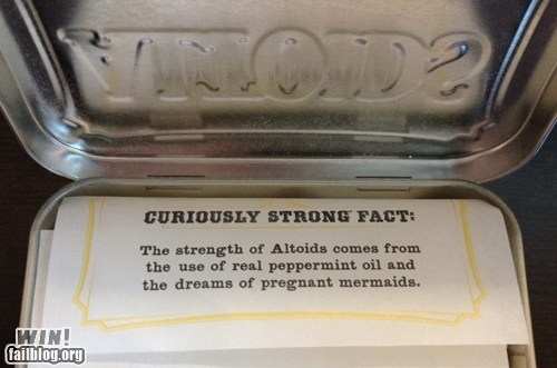 altoids fact mermaid mint true story