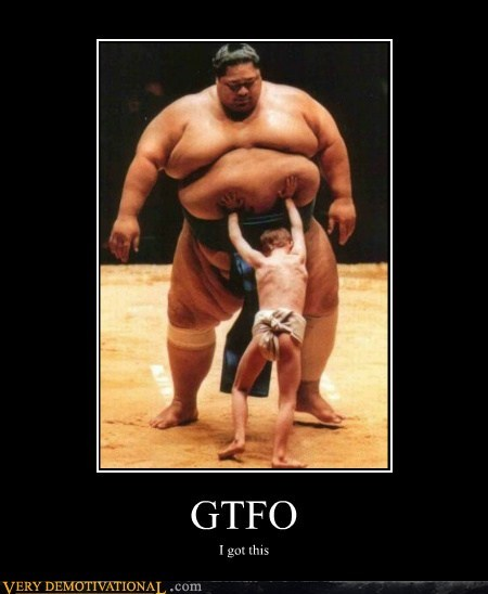 gtfo,hilarious,kid,sumo