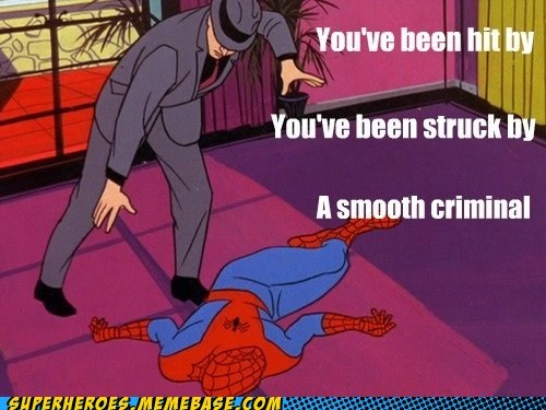 michael jackson,smooth criminal,Spider-Man,Super-Lols