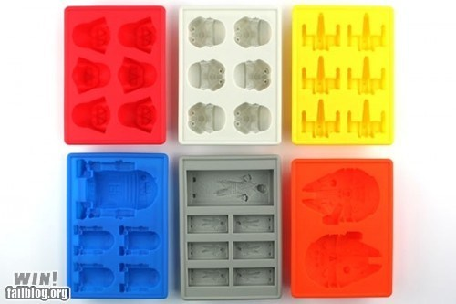 design ice tray nerdgasm star wars