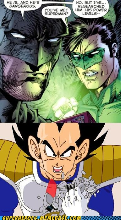 batman,Dragon Ball Z,Green lantern,power level,Super-Lols,superman