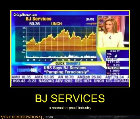 BJ SERVICES a recession-proof industry