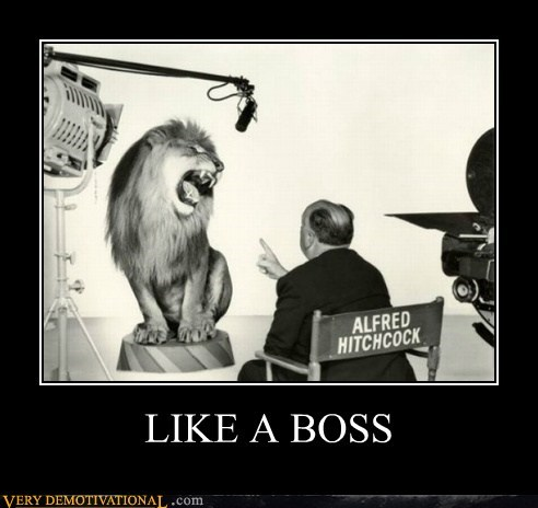 alfred hitchcock,hilarious,Like a Boss,lion